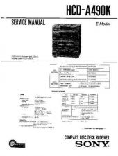 Buy Sony HCD-A490 Service Manual by download Mauritron #240877