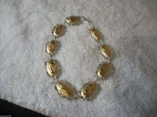 Buy JUSTIN WESTERN Wear Silver/Gold LINKED CONCHO BRACELET/RODEO/WESTER