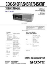 Buy Sony CDX-5290RDSService Manual by download Mauritron #237501