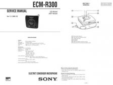 Buy Sony ECM-R300 Service Manual by download Mauritron #240596