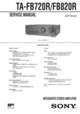 Buy SONY TA-FB930R Technical Info by download #105291