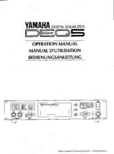 Buy Yamaha DEQ5E Operating Guide by download Mauritron #247386