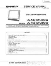 Buy Sharp LC13E1U Service Manual by download Mauritron #208988