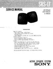 Buy Sony SRS-17 Service Manual by download Mauritron #233151