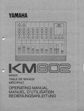Buy Yamaha KM802E Operating Guide by download Mauritron #248262