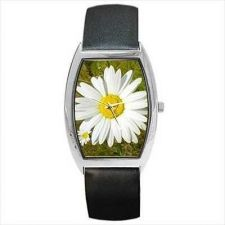 Buy White Daisy Flower Barrel Wrist Watch