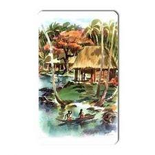 Buy Tropical Beach Lagoon Retro Travel Art Vinyl Magnet