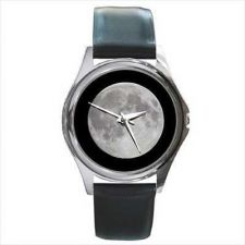 Buy Full Moon In Space Round Photo Wrist Watch