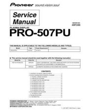 Buy Pioneer PRO-507PU Manual by download Mauritron #227739