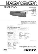 Buy SONY MJSJE510 WSM A6890 MTS Technical Info by download #105059