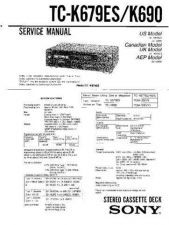 Buy Sony TC-K420 Service Manual. by download Mauritron #245383