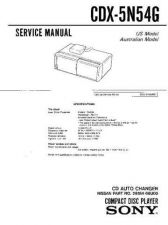 Buy Sony CDX-5N15W Service Information by download Mauritron #237519