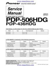 Buy Pioneer PDP-435PE-WYVI[2] Service Manual by download Mauritron #235017