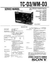 Buy Sony TC-D3-WM-D3 Service Manual. by download Mauritron #245341
