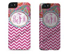 Buy Personalized Tough Case. Pink Chevron/Paisley I Phone 4 / 5/5C, Galaxy 3 & 4