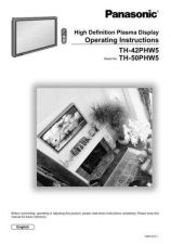 Buy Panasonic TH42PW3 Operating Instruction Book by download Mauritron #236569