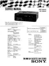 Buy Sony XR-7050 Service Manual. by download Mauritron #246143