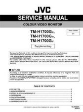 Buy JVC TM-H1700G-C Service Manual Schematic Circuit. by download Mauritron #272643