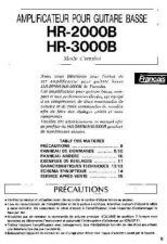 Buy Yamaha HR3000B FR Operating Guide by download Mauritron #248118