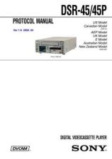 Buy Sony DSR-5050P... Service Manual by download Mauritron #240423