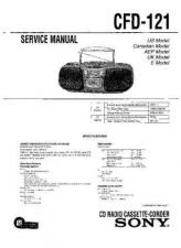 Buy Sony CFD-121 Manual by download Mauritron #229038
