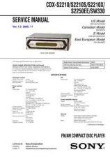 Buy Sony CDX-S2210-S2210S-S2210X-S2250EE-SW330 Service Manual by download Mauritro