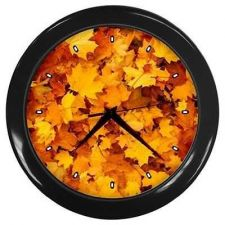 Buy Maple Leaf Pattern Fall Autumn Design Pattern Bar Wall Clock