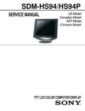 Buy Sony SDM-HS94-HS94P Service Manual by download Mauritron #232352