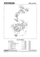 Buy Scalextrix No.350 Opel Astra Service Sheets by download Mauritron #206468
