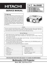 Buy Hitachi CP-X445W EN Manual by download Mauritron #224859