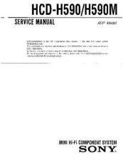Buy Sony HCD-H590 Service Manual by download Mauritron #241145