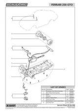 Buy Scalextrix No.444 Ferrari 250 GTO Service Sheets by download Mauritron #206620