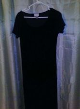 Buy Womens Long Black Dress Cassini Brand Polyester And Spandex Size Medium