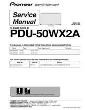 Buy Pioneer PDU50WX2A Service Manual by download Mauritron #235188