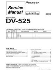Buy Pioneer DV-525---------- Service Manual by download Mauritron #234282