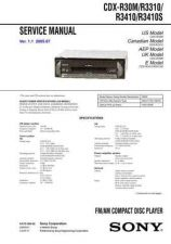 Buy Sony CDX-MP450X Service Manual by download Mauritron #238620