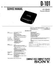 Buy Sony D-101 Manual-1663 by download Mauritron #228465