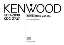 Buy Kenwood KDC-Z838 Operating Guide by download Mauritron #219159