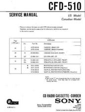 Buy Sony CFD-510-2 Service Manual by download Mauritron #238722