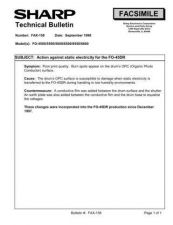 Buy SHARP FAX149 TECHNICAL BULLETIN by download #104335