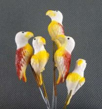 Buy 10 MINIATURES HAWK BIRDS BROWN ANIMAL GARDEN STAKES TERRARIUM DECOR