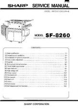 Buy Sharp SF8260 SM DE Service Manual by download Mauritron #210551