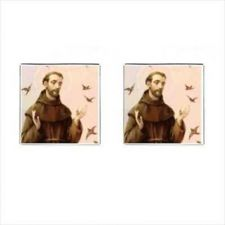 Buy St Francis Of Assisi Patron Saint Of Animals Birds Square Cufflinks