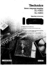 Buy Panasonic SUA900 Operating Instruction Book by download Mauritron #236519