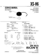 Buy Sony XS-H6 Service Manual. by download Mauritron #246359