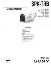 Buy Sony SPK-TRV1 Service Manual. by download Mauritron #244346