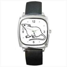 Buy Pet Rat Unisex Square Wrist Watch New