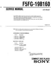 Buy Sony F5FG-19B160 Service Information by download Mauritron #237778