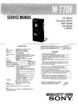 Buy Sony M-770V Service Information by download Mauritron #237906