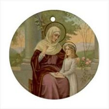Buy St Anne Patron Saint Mothers Single Women Ceramic Ornament